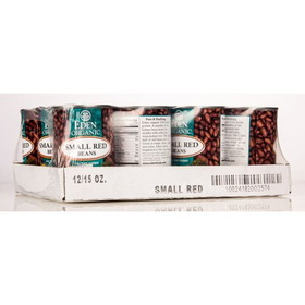Eden Foods Small Red Beans, Canned, Organic - 12 x 15 ozs.