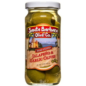 Santa Barbara Double Stuffed Green Olives - 5 ozs.