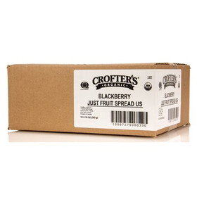 Crofter's Blackberry Just Fruit Spread, Organic - 12 x 10 ozs.