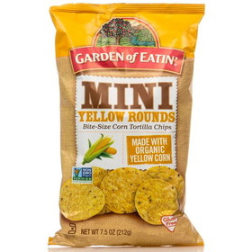 Garden of Eatin' Mini Yellow Tortilla Chips - 3 x 7.5 ozs.