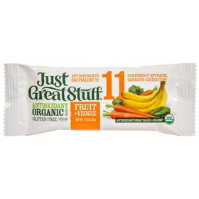 Betty Lou's Fruit & Veggie Bar, Organic - 3 x 1.50 ozs.