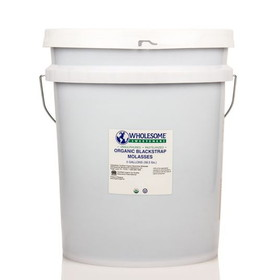 Wholesome Sweeteners Molasses, Organic, Fair Trade - 5 gallons