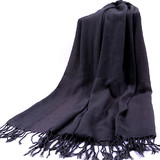 Solid Color Scarf Shawl Wrap With Tassel Ends, Gift Idea
