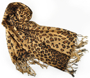 Leopard Animal Print Pashmina Soft Shawl Scarf Stole, Gift Idea