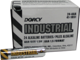 Dorcy Industrial Alkaline Batteries / Aaa/24 Pack - 41-1851