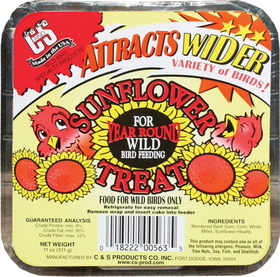 C And S Sunflower Suet Treat / 11 Ounce - Cs12563