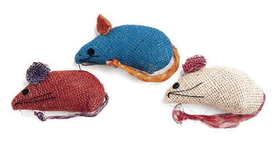 Ethical Burlap Mice / 3 Pack - 2090