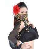 BellyLady Belly Dance Face Veil With Beads, Style A