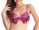BellyLady Belly Dance Sequined Bra Top, Size For 34C