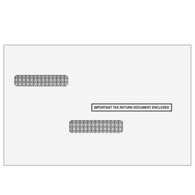 Broker Forms 1099 & W-2 Double Window Envelope for Universal Form - Self Seal (1970S), Price/25