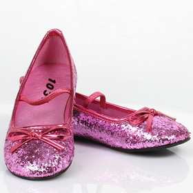 Pleaser Shoes STAR-16GC-Pink-13/1 Sparkle Ballerina (Pink) Child Shoes, Display Size: Medium (13/1)