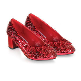 Pleaser Shoes Dorothy-05-9/10 Judy (Red Sequin) Child Shoes, Display Size: X-Small (9/10)