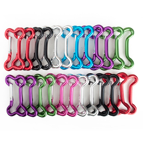 Wholesale Aluminum Bone-shaped Carabiners, Price/24 PCS