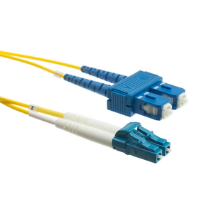 CableWholesale LCSC-01202 Fiber Optic Cable, LC / SC, Singlemode, Duplex, 9/125, 2 meter (6.6 foot)