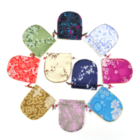"Aspire Silk Brocade Pouch with Drawstring, Wedding Favor Bags, 4-3/4"" x 5-1/2"", Assorted Colors, Wholesale Lot, Graduation Gift, Price/20 Pcs"