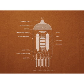 Shirt - Rust with 12AX7 Diagram