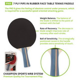 Champion Sports Pn9 Table Tennis/Ping Pong Racquet/Paddle/Racket