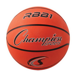 Champion Sports RBB1 Rubber Basketballs, Price/each
