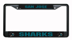 San Jose Sharks Black Chrome License Plate Frame