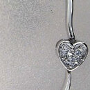 Sun silver S005-1004 Chain of Hearts CZ Sterling Silver Bracelet