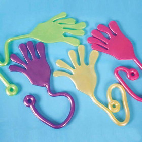 Glitter Giant Sticky Hands, Toy Gift for Kids, Graduation Gift, Price/ONE DOZEN