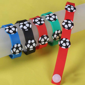 Soccer Rubber Bracelets, Accessories for Kids, Graduation Gift, Price/ONE DOZEN