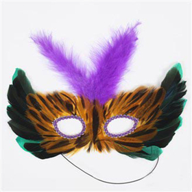 Feather Half Masks, Price/ONE DOZEN