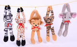 Plush Long Arm Zoo Animals, Set of 5, Graduation Gift
