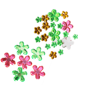 Flower Adhesive Jewel 26 PCS, Graduation Gift