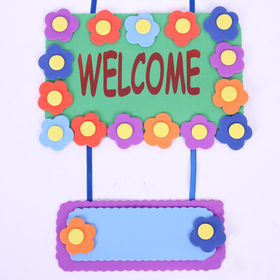 Design Your Own! Foam Door Hanger Decoration - Welcome, Graduation Gift, Price/12 SETS