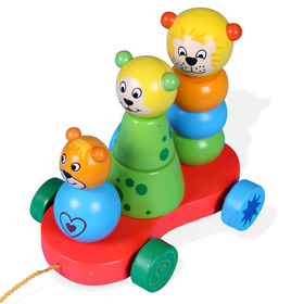 Wooden Lion Pull Toys, Graduation Gift