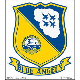"Eagle Emblems DEC-USN, BLUE ANGELS (2-1/2""X3-1/2"")"