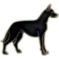 "Eagle Emblems PIN-DOG, GREAT DANE, BLACK  (1"")"
