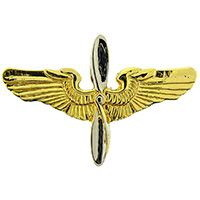 Eagle Emblems WING-ARMY, AVIATOR, EARLY- (MINI) (1-3/8&quot;)