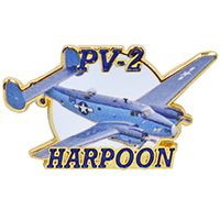 "Eagle Emblems PIN-APL, PV2 HARPOON  (1-1/2"")"