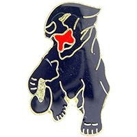 "Eagle Emblems PIN-CAT, PANTHER, BLACK  (1"")"