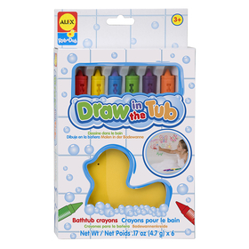 Alex By Panline USA ALE639R Draw In The Tub Crayons 6Pk, Price/EA