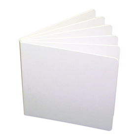 Ashley Productions ASH10705 White Hardcover Blank Book 11X8-1/2, Price/EA