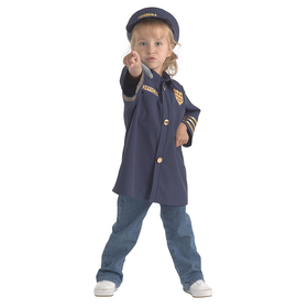 Brand New World BNWCPO106 Dramatic Dress Ups Community Helper Costumes Police Officer, Price/EA