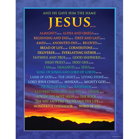 Carson Dellosa CD-6324 Chartlet Names Of Jesus 17X22, Price/EA