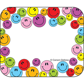 Carson Dellosa CD-9475 Name Tags Multicolored Smiley 40/Pk Faces Self-Adhesive, Price/EA