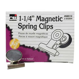 Charles Leonard CHL68512 Magnetic Spring Clips 1 1/4 Box-24 1 Each, Price/BX