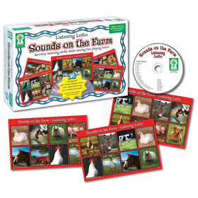 Carson Dellosa KE-846007 Listening Lotto Sounds On The Farm Game, Price/EA