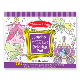 Melissa & Doug LCI4263 Jumbo Coloring Pad Princess & Fairy, Price/EA
