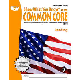 Lorenz / Milliken LEPNA3751 Gr 7 Student Workbook Reading Show What You Know On The Common Core, Price/EA