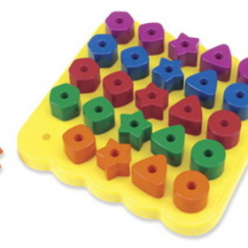 Learning Resources LER1572 Geo Shapes Peg Board, Price/EA