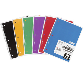 Mead Products MEA05512 Notebook Spiral Single 70 Sht Ct Subject, Price/EA