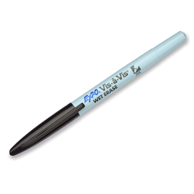 Sanford L.P. SAN16001 Marker Vis A Vis Fine Black Wet Erase Permanent, Price/EA