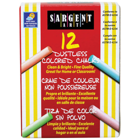 Sargent Art SAR662010 Assorted Dustless Chalkboard Chalk, Price/EA