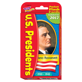 Trend Enterprises T-23013 Pocket Flash Cards Presidents 56-Pk 3 X 5 Two-Sided Cards, Price/EA